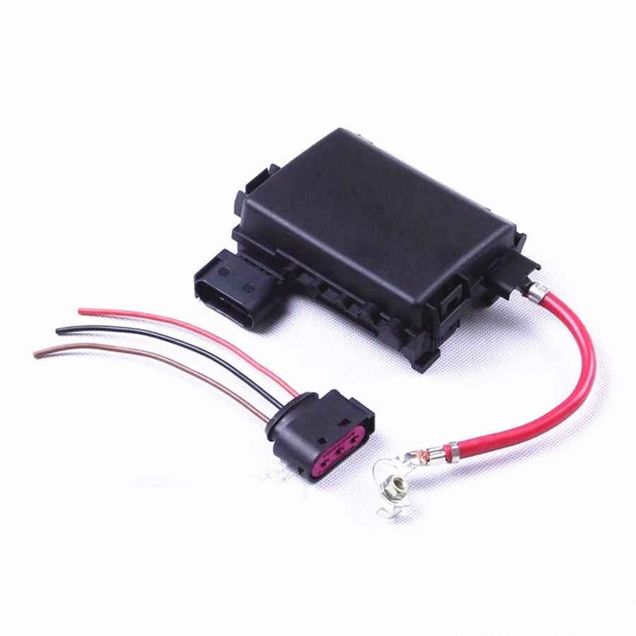 hongge battery fuse box assembly cable harness connector for vw beetle jetta mk4 golf mk4 bora seat leon toledo 1j0 937 617 d [ 900 x 900 Pixel ]