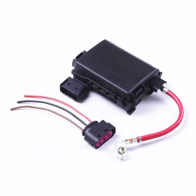 HONGGE Battery Fuse Box Assembly + Cable Harness Connector For VW