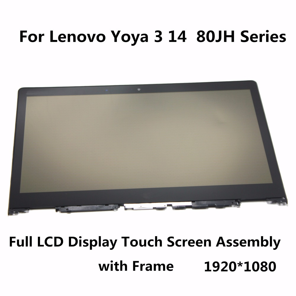LCD Display Touch Screen Assembly+Frame For Lenovo Yoga 3 14 80JH Series 80JH0025US 80JH0029US 80JH000SUS 80JH000PUS 80JH007JNX for lenovo s939 lcd screen display touch