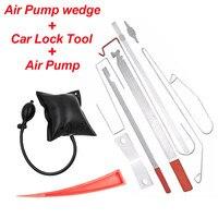 Universal 1 set Car Lock Out Emergency Tool Kit Car Door Maintenance Tools + Wedge + Air Pump Air Cushion Auto Car Repair Tools