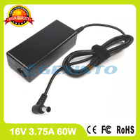 16 V 3.75A 60 W laptop ac power adapter carregador para Fujistu LifeBook T2010 T2020 FMV-AC324 T3010 T3010D T4000 T4000D Tablet PC