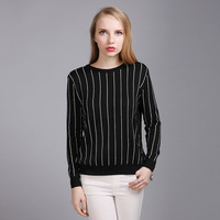 Poncho Cotton Polyester Computer Knitted Special Offer Jumper Blusas De Inverno Feminina 2018 And New Autumn Sweater Striped