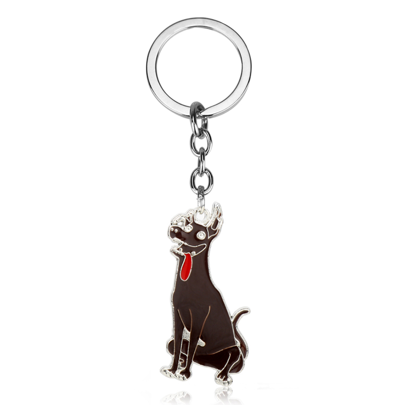 Us 1 76 55 Off Dongsheng Movie Jewelry Coco Dog Dante Keychain Metal Mexican Hairless Dog Dante Pendant Keyring Car Bag Key Chain Men Gift 50 In Key