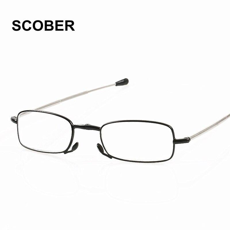0d8ecd7d57 Aliexpress.com   Buy SCOBER Brand High Quality Folding Reading Glasses Men  Women Exquisite Anti Fatigue Foldable Business Presbyopia Eyeglasses G389  from ...
