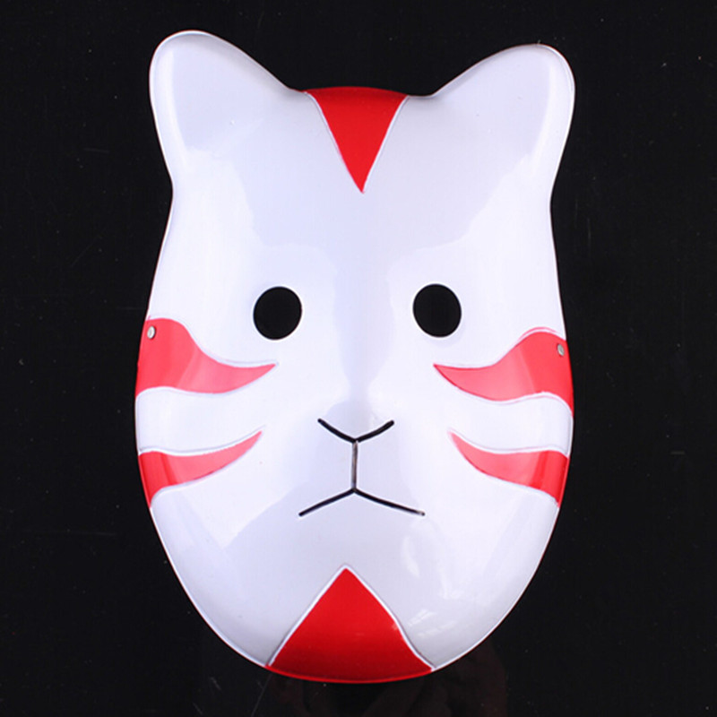 50pcs/lot Free Shipping Red Black Blue Color Masquerade Cosplay Costumes Naruto Mask Uchiha Madara Anime Japanese Cat Mask