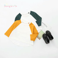 2018 Casual Spring Kids Children Girls Boys Baby Infants Long Sleeve O Neck Tops T Shirts