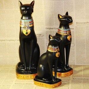 Image 3 - Sáng Tạo Chú Mèo Ai Cập Thần Đồ Trang Trí Nhựa Hàng Thủ Công Sách Tạm Gác Máy Tính Để Bàn Mèo Thu Nhỏ In Hình Hoa Lá Trang Trí Nhà Phụ Kiện Quà Tặng Sinh Nhật