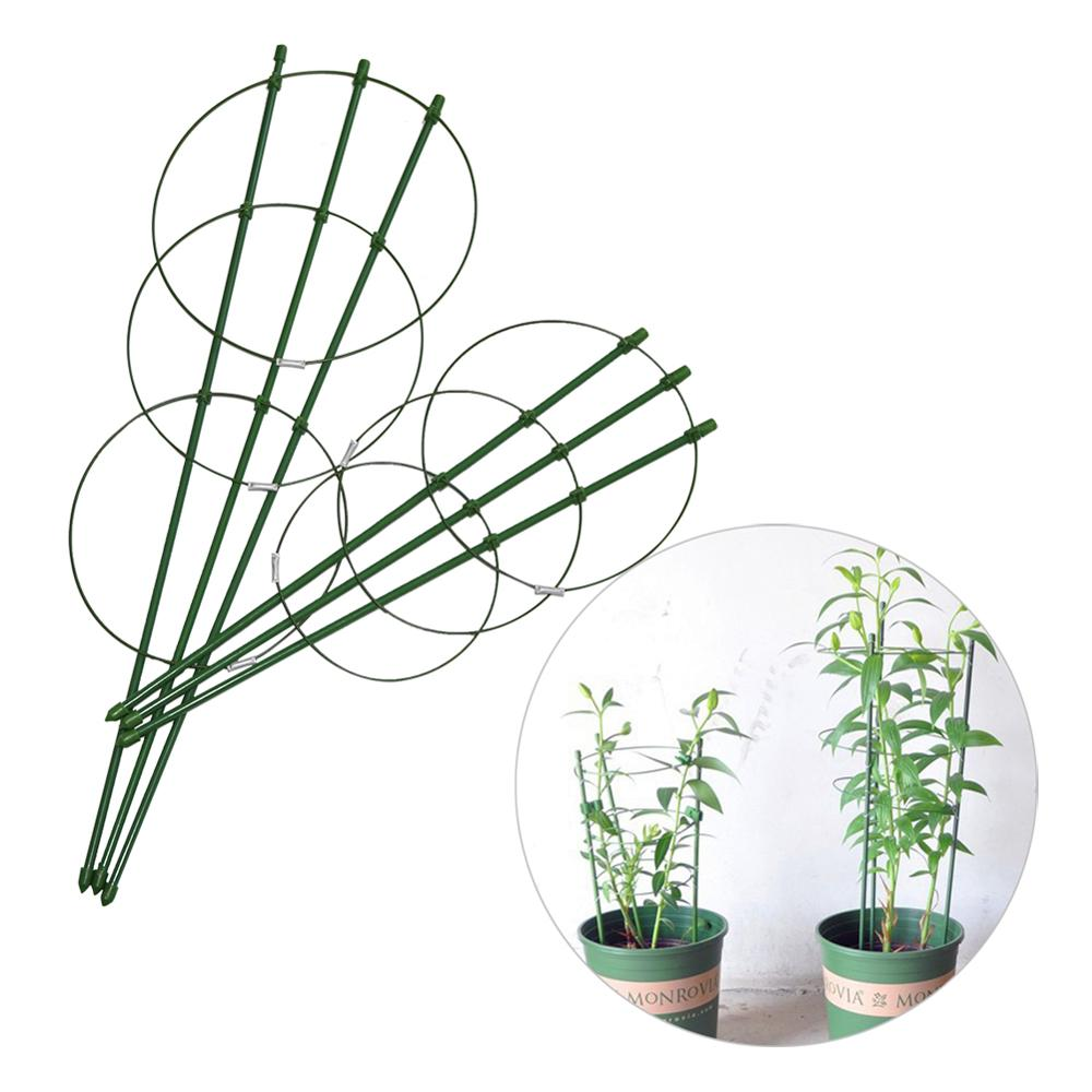 10 Pcs Durable Climbing Vine Rack Plastic Coated Steel Potted Plant Support Frame 45cm/60cm Flower Vegetables Trellis Brackets