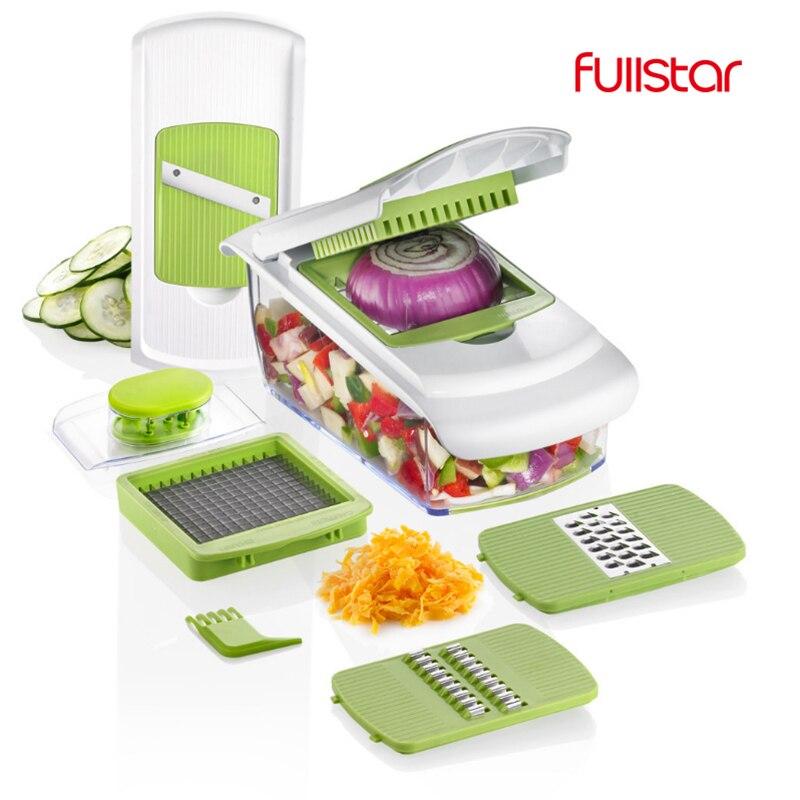 ملاعق خشبية للمطبخ آلة قطع ماندولين سكين الغذاء المختار قطاعة الخضراوات مقشرة ، تقطيع ، مبشرة أداة المطبخ مع 7 شفرات التقطيع