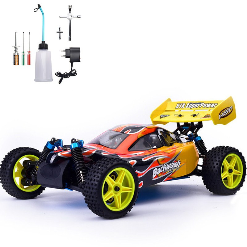 HSP Rc Car 1/10 Scale Nitro Gas Power 4wd Two Speed Off Road Buggy 94166 High Speed Remote Control Car Kid Toys 1 pair 02168 hsp rc 1 10 model 4wd on road car off road truck wheel axle 94122 94166