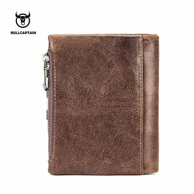 88c3073d48d Bullcaptain Portemonnee Mannen Portemonnee RFID Antimagnetic Vintage Lederen  14 Kaartsleuven Coin Bag Hoge Kwaliteit Mannelijke Card ID Houder in ...