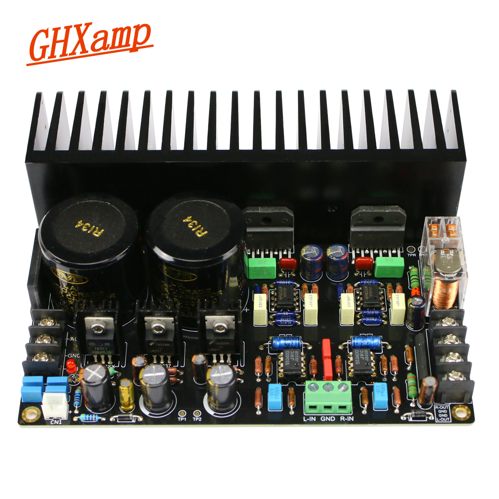 GHXAMP LM3886 Amplifier Audio Board JRC5534DD Op-amp Full DC Servo Circuit LM317 LM337 Regulator C1237 Speaker Protection 68W*2