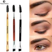 2018 nowy pędzel do brwi Beauty Makeup Wood Handle pędzel do brwi grzebień do brwi szczotki dwustronne pędzle makijaż 1031 X23 1.5 10