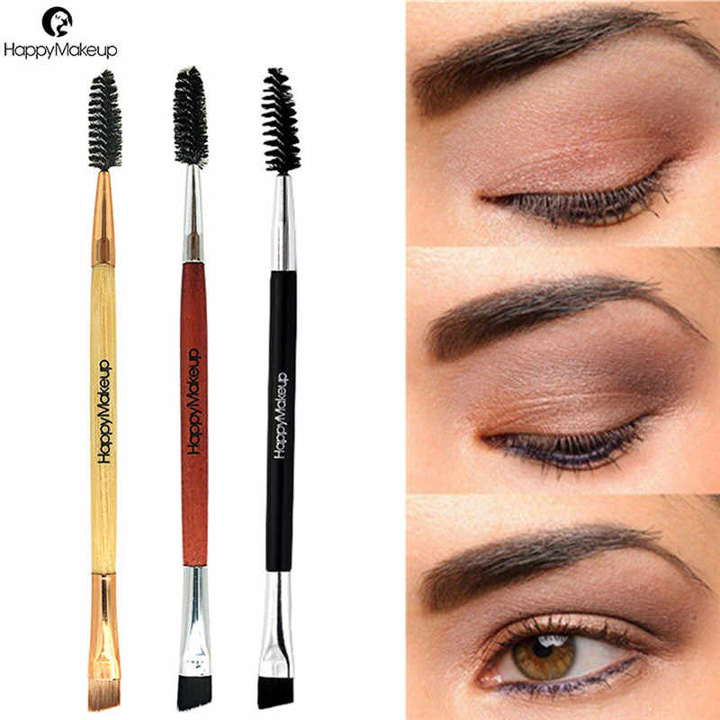2018 NEW Eyebrow Brush Beauty Makeup Wood Handle Eyebrow Brush Eyebrow Comb Double Ended Brushes Brushes Make Up 1031 X23 1.5 10