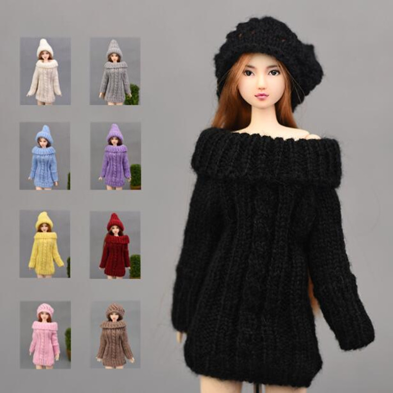 CXZYKING Barbie Doll Sweater Or Hat Or Shoes Clothes Handmade Sweater Coat Dress Clothes For Barbie Gifts For Girls Kids Toy