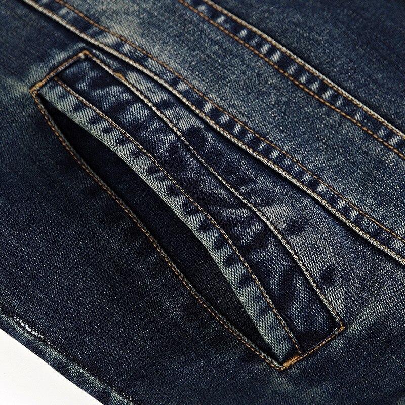 2018 neue frühling und herbst jeansjacke männer revers fashion slim mantel lässig einfarbig mantel