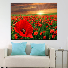 Framework DIY Painting By Numbers Kits Paints Colors Beautiful Flowers Home Decor Wall Scenery Artwork Pictures Gifts