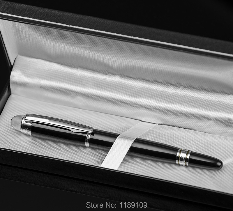 Luxury crystal head metal Ballpoint Pen for Business Meeting School Stationery Gift 6904 in Ballpoint Pens from Office School Supplies
