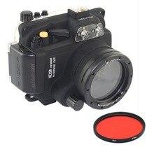 Meikon 40M Waterproof Underwater Camera Housing Case Bag for Sony NEX-5R NEX-5L NEX5T NEX-5T 16-50mm Lens Camera With Red Filter pixco lens adapter ring suit for canon ef e os to sony nex a5100 a6000 a5000 a3000 5t 3n 6 5r f3 7 5n 5c c3 3 5