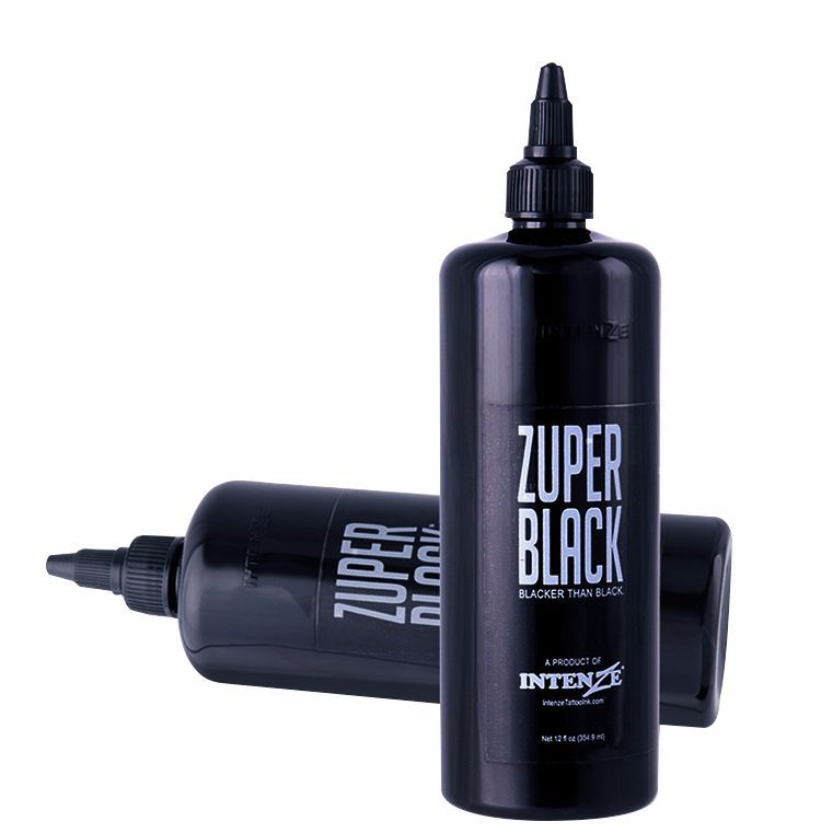 large bottle ZUPER BLACK Tattoo Ink 12oz (360ml) 500ml 1pc large diffuser squeeze bottle tattoo green soap ink wash