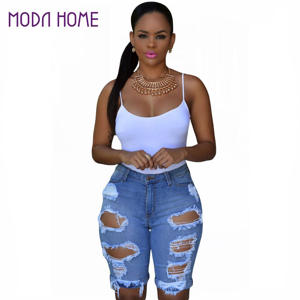Online Get Cheap Knee High Denim Shorts -Aliexpress.com | Alibaba ...