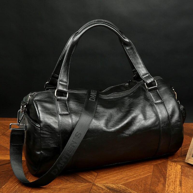 viagem de couro homens bolsa Estilo : Estilo Europeu e Americano