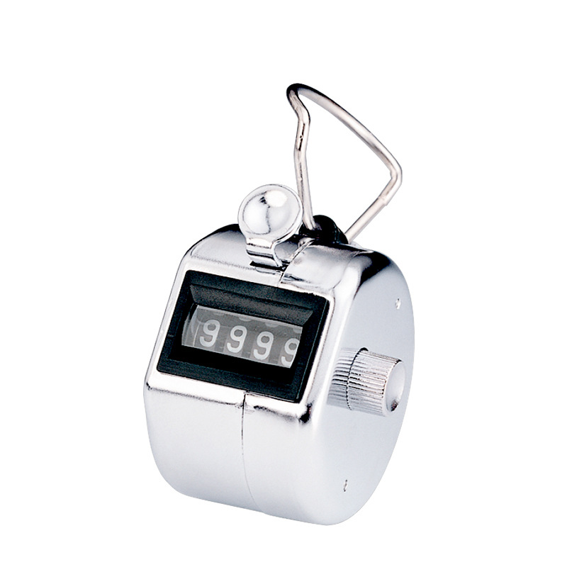 Golf Stroke Counter Lap Inventory Count Manual Tally Mechanical Palm Click Steel Hand Hold Counters With 4 Digit Metal