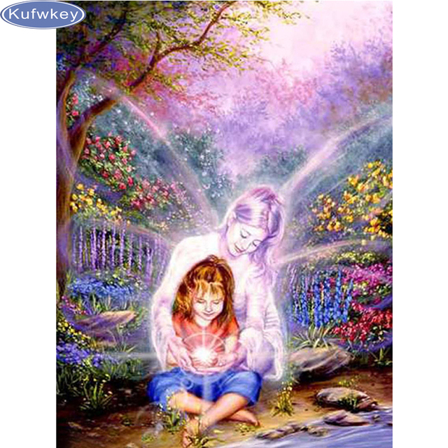 Bo e narodzenie 3d diament mozaika opiekun anio y obrazy for Quadri con angeli
