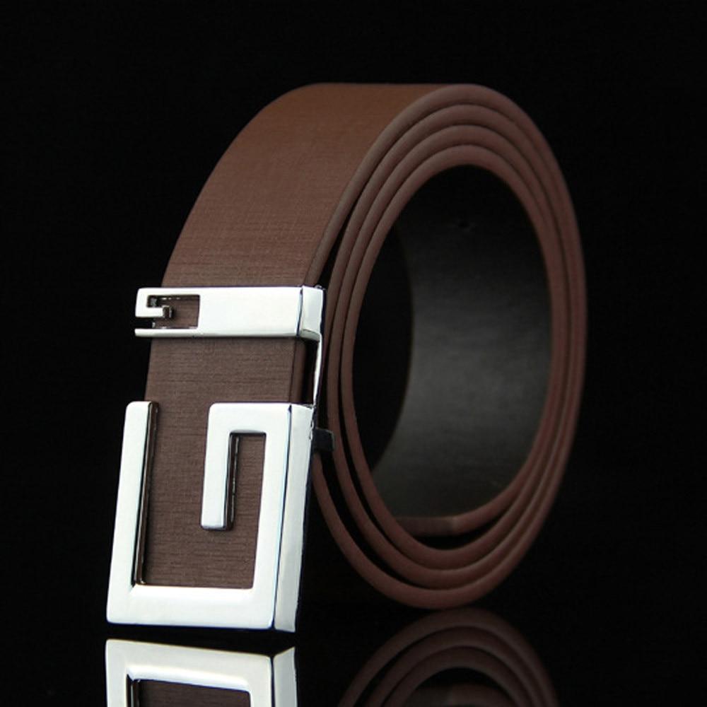 100/% Genuine Cow Leather Belt Men/'s Waistband Waist Strap Girdle Smooth Buckle