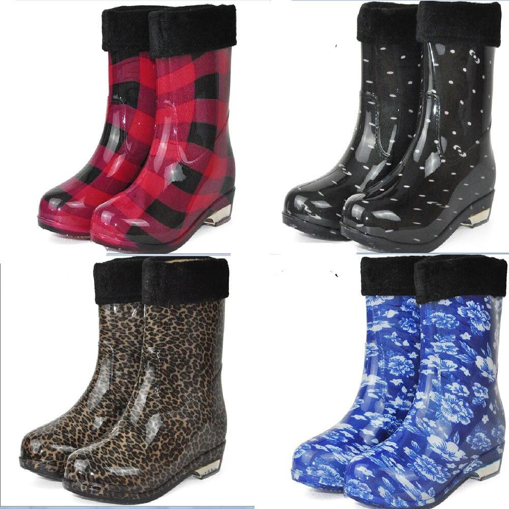 Perfect Women Stylish New Non-Slip Rain Boots Female Rain Shoes Lady Wellies KX0013 | EBay