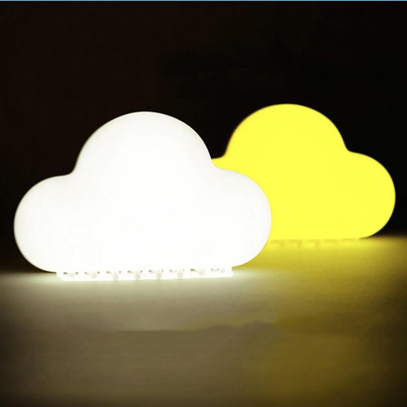 2018 Pesanan Bisa Malam Cahaya Lampu Dinding Nirkabel Awan LED Night Light Luminaria Lampu Meja Untuk Anak-anak Pencahayaan Baru