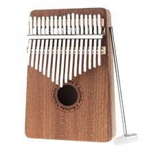 17key  Kalimba Thumb Piano High-Quality Wood Mahogany Single Board Sapele Mini Keyboard Instrument withTuning Hammer
