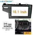 10 1-дюймовая Автомобильная фасция для HONDA Fit Jazz (LW) 2014-2018 установка приборной панели комплект для переоборудования рамка объемная рамка DVD