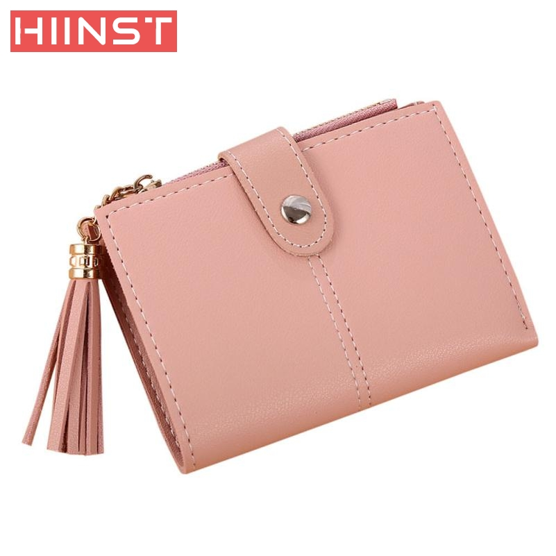 2017 High Quality Women Simple Short Wallet Tassel Coin Purse Card Holders Handbag Casual Solid carteira Wallet Bag G9.14 купить