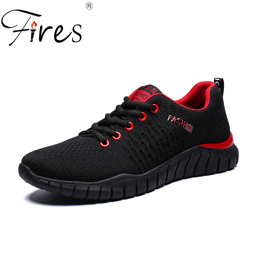 Style; Men Fly Weaving Sock Shoes Lace Up Sneakers Geometry Colorful Running Shoes Ultralight Breathable Sport Shoes Plus 48 Size Fashionable In