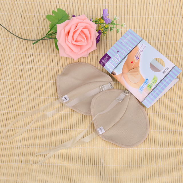 2 Pcs Underarm Sweat Shield Pad washable Armpit Sweat Absorbing Guards Shoulder Strap Skin Color 4