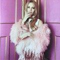 2017 Pink Curly Hariy Shaggy Faux de Piel de Oveja de Larga Bufanda Nueva Mujer Faux Fur Mantón Largo Caliente Cap Bufandas