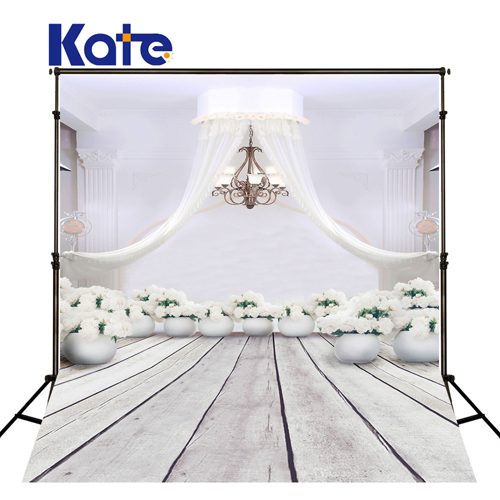Kate White Wedding Photo Studio Background Wood Floor Photocall Background Flower Washable Photography Backdrop allenjoy backdrop spring background green grass light bokeh dots photocall kids baby for photo studio