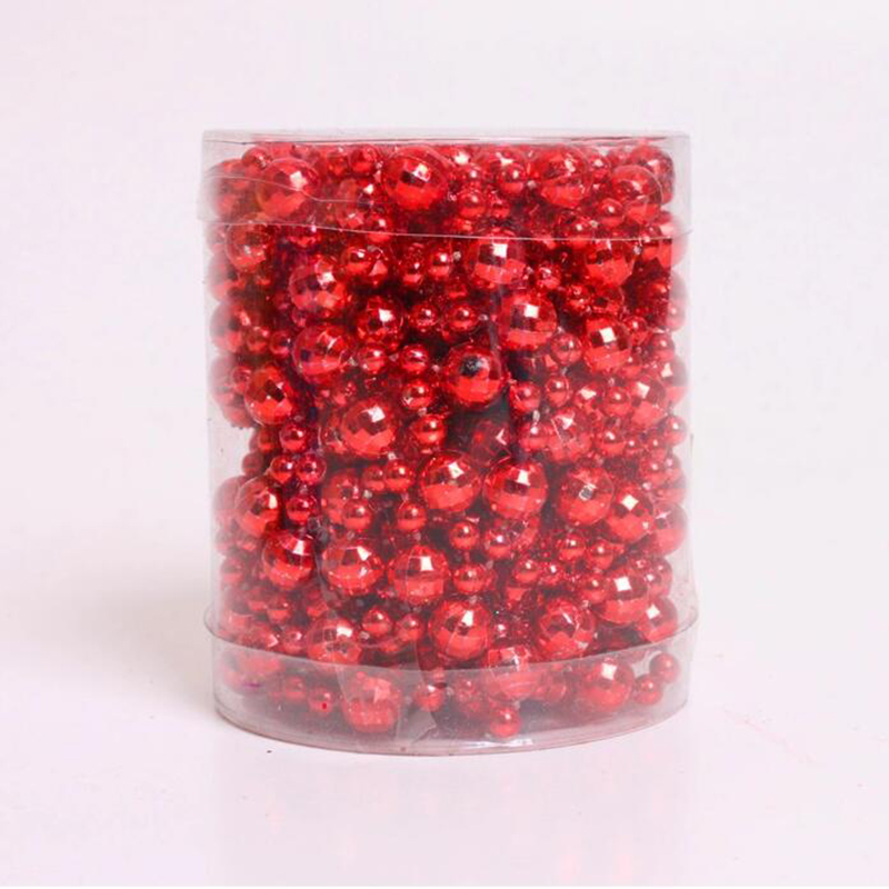 4 colour ball bead chain decoration plastic chain christmas decorations 5meter earth beads merry christmas decoration home - Christmas Chain Decorations
