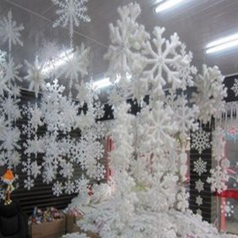 30pcs / 10 sacs blanc flocon de neige de noël Decortions pour la maison ornements d'arbres de Noël fête Festival Party Navidad Home Decor