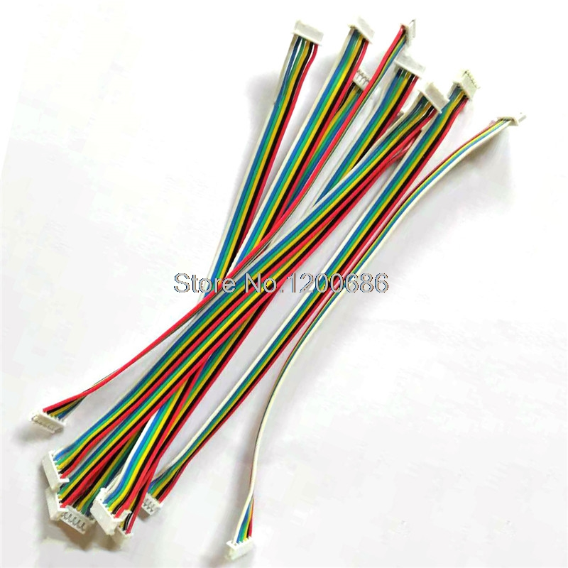10 SETS 2P/3P/4P/5P/6 Pin 51021 Series  JST 1.25MM Female Double Connector With Wire 150MM Ribbon Cable 28 AWG JST1.25