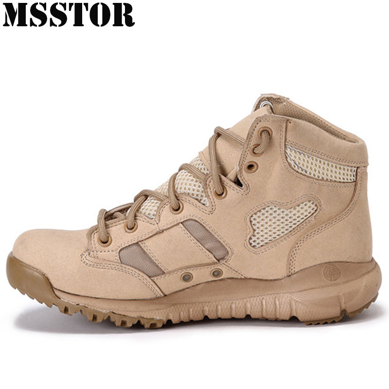 MSSTOR Men Hiking Shoes Man Brand Hunting Trekking Tactical Boots Outdoor Athletic Man Brand Camping Hiking Boots Climbing Shoes 2016 man women s brand hiking shoes climbing outdoor waterproof river trekking shoes