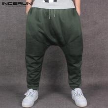 INCERUN Men Harem Pants Joggers Loose Pockets Drop Crotch Trousers Men Streetwear Fashion Hip-hop Casual Sweatpants S-3XL Autumn