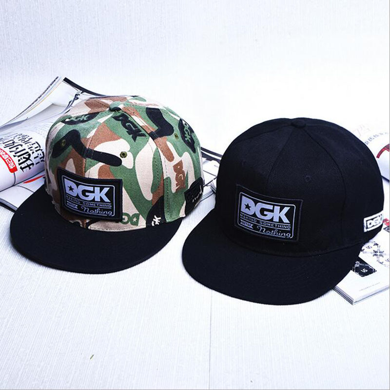 Brand new DGK camouflage snapback hats adjustable street skateboard hip hop baseball cap falt hat for men and women brand new blvd supply snapback baseball cap red basic adjustable original cap hip hop cap