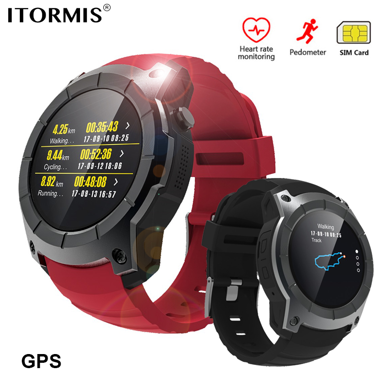 ITORMIS Bluetooth GPS Smart Watch SmartWatch Phone Watch Sports Support SIM TF Card Heart Rate Fitness Tracker for Android IOS hot kw18 bluetooth smart watch smartwatch phone support sim tf card fitness wristwatch for apple samsung gear s2 huawei