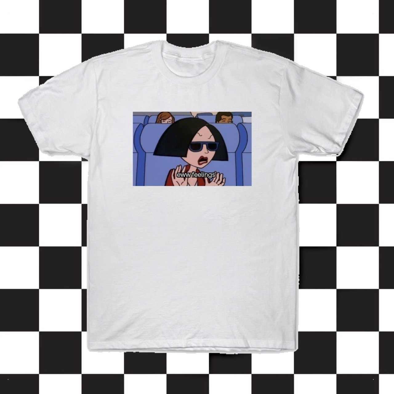 cb9b9499f ... kuakuayu HJN Unisex Eww Feelings 90s Vintage Fashion T-Shirt Grunge  Aesthetic White Tee Daria ...