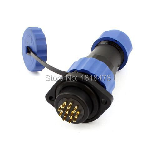 SD20 20mm 12 Pin Flange Waterproof Aviation Connector Plug Socket Straight IP68