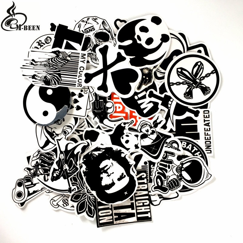 Cool 45pcs/lot Transparent Straight Outta Compton Stickers panda clown for suitcase Notbook motorcycle Waterproof DIY decals