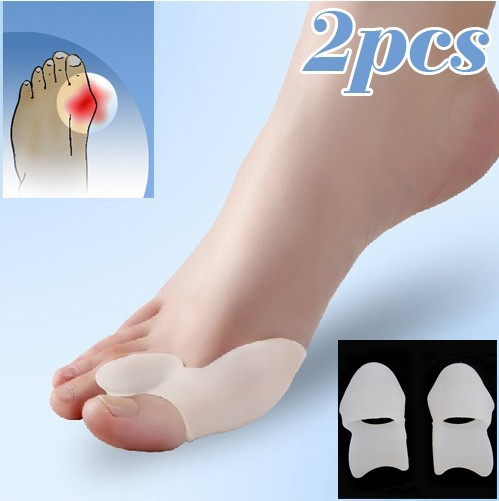 MATAVENI 1Pair Gel Foot Care Tool Bunion Corrector Bone Big Toe Protector Hallux Valgus Straightener Toe Spreader Pedicure