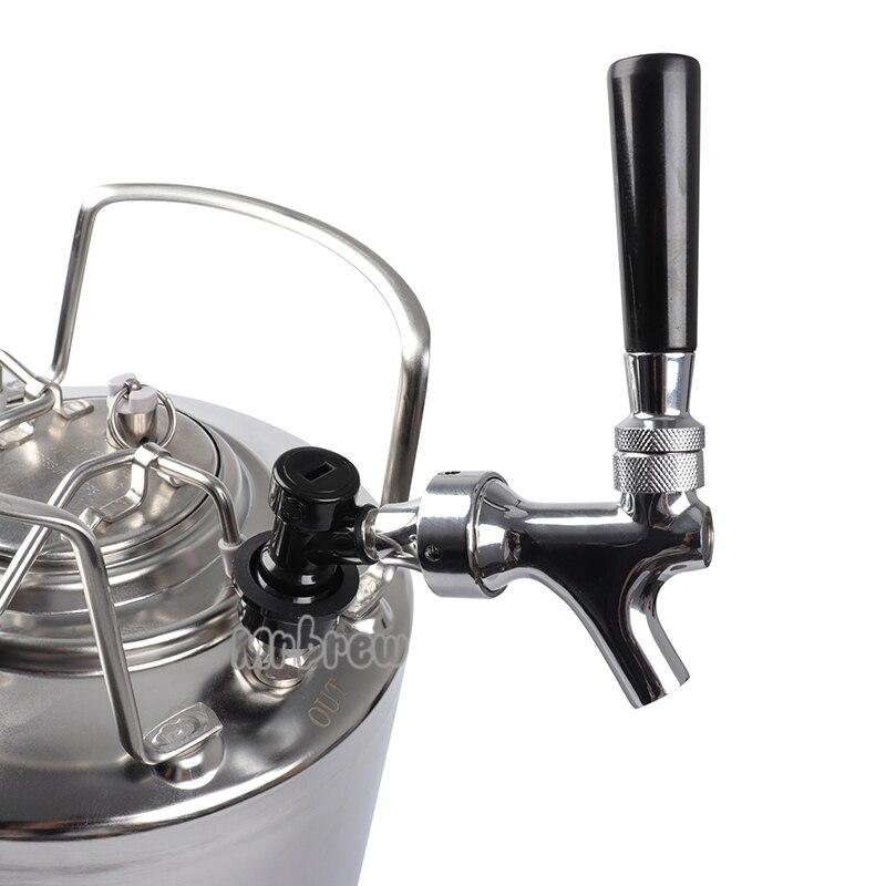Полированный хром проект пивной кран с мячом замок перекрытие жидкости Комплект для доморощенного KegTap